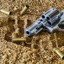 Firearm and bullet casings