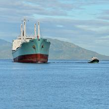 trawler returning to port