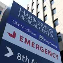 Harborview Medical Center sign
