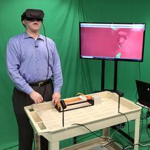 Dr. Wayne Monsky using the VR program