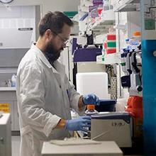 picture of Jesse Erasmus in the lab