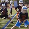 picture of boys warming up for football practice