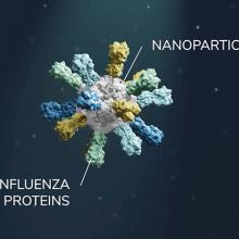 depiction of nanoparticle based flu vaccine
