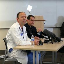 Drs. Tim Dellit and Santiago Neme taking questions