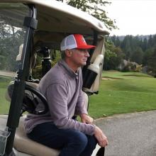 Phil Green on the golf course