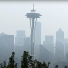 Smoky view of the Space Needle