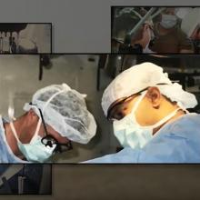 Drs. Starnes and Singh operating
