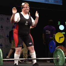 picture of Special Olympics powerlifting competitor