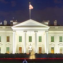picture of U.S. White House at night