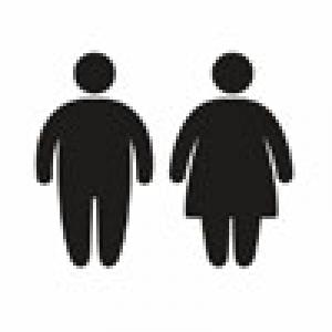 illustration of overweight man and woman