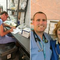 picture of UW Medicine Dr. Stephen Morris and assistant nurse manager Cheryl Stromberg
