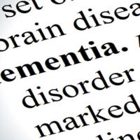 picture of dementia entry in a dictionary