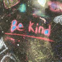 Be Kind message on chalkboard