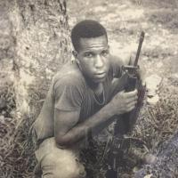 picture of soldier in Vietnam